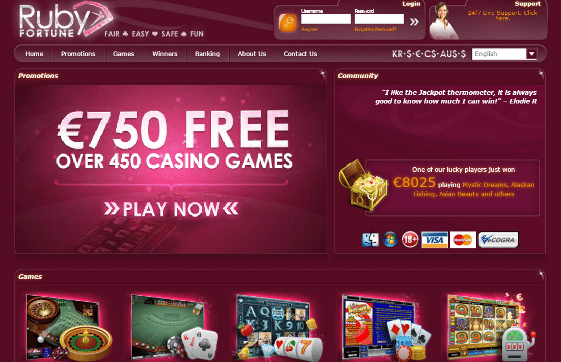 ruby palace online casino