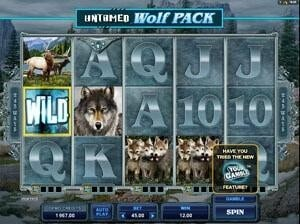 untamed wolf pack game